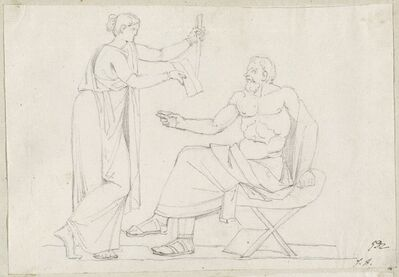 Jacques-Louis David, 'Socrates and Diotime', 1775/80