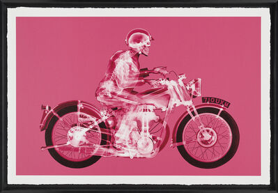 Nick Veasey, 'Matchless Rider (Large Pink)', 2019