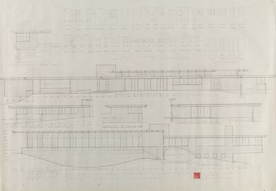 Frank Lloyd Wright, 'Drawings and Renderings for the John L. Rayward House, New Canaan, Connecticut (eighteen works)', circa 1955