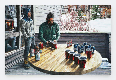 Joey Wolf, 'Beer Pong on Balcony', 2017