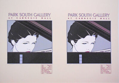 Patrick Nagel, 'Park South Gallery at Carnegie Hall-Rare Double Print Edition', 1979