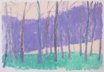 Wolf Kahn, 'Green and Purple', 1987