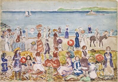 Maurice Brazil Prendergast, 'Revere Beach No. 2', between 1917 and 1918