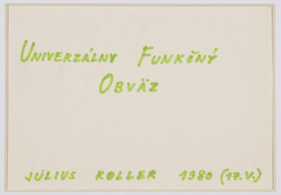 Július Koller, 'Untitled (Univerzalny)', 1980