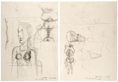Salvador Dalí, 'Études pour le tableau Visage Paranoïaque ', 1934