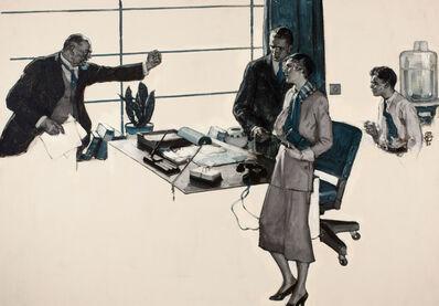 Saul Tepper, 'Couple in Modern Office'