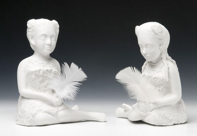Kiki Smith, 'Tahitian Girls with Feathers', 2005