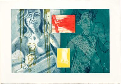 David Salle, 'Canfield Hatfield, Plate 8', 1989
