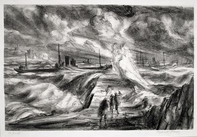 Reginald Marsh, 'St. Jean de Luz', 1928