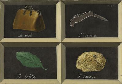René Magritte, 'The Interpretation of Dreams (La Clef des songes)', 1927