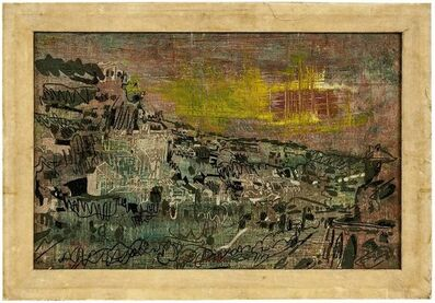 Baron Pierre Courtens, 'Rocamadour, Modernist Abstract Architectural Village Landscape', Mid-20th Century