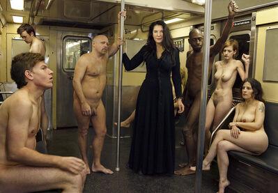 Martin Schoeller, 'Marina Abramovic on Subway Train', 2010