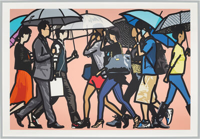Julian Opie, 'Walking in the Rain, Seoul, from Walking in the Rain', 2015