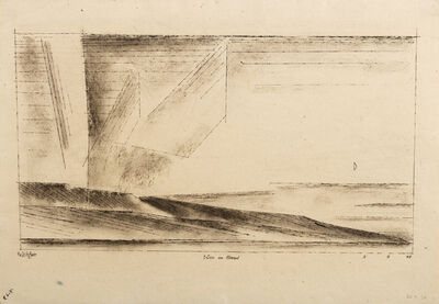 Lyonel Feininger, 'Düne am Abend (Dune at Evening)', 1928