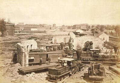 George N. Barnard, 'City of Atlanta, GA. No. 1 (Ruined Roundhouse in Atlanta, GA after the Atlanta Campaign)', 1866/1866