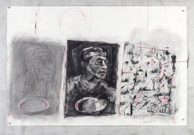 William Kentridge, 'Drawing for City Deep (Portrait with Pan)', 2019