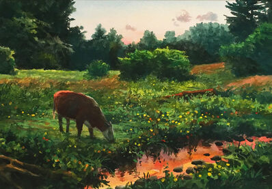 Scott Prior, 'Cows Grazing', 2017