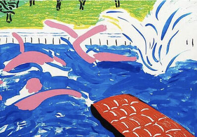 David Hockney, 'Afternoon Swimming', 1979