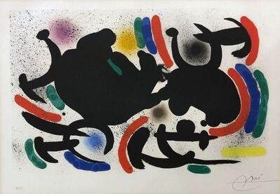 Joan Miró, 'Miro Lithograph I Plate 9 ', 1972
