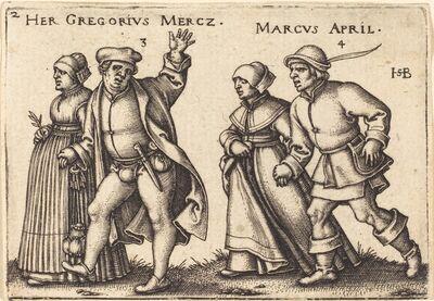 Sebald Beham, 'March and April', 1546/1547
