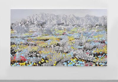 Tursic & Mille, 'Landscape and Blue and Pink and Yellow', 2014