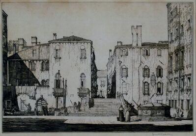 Louis Conrad Rosenberg, 'Campo, Venice', ca. 1920