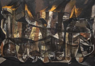 Rico Lebrun, 'Burning Tank', 1950