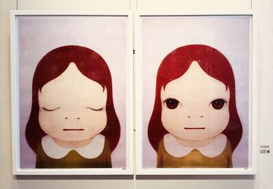 Yoshitomo Nara, 'Cosmic Girl (Eyes Shut/Eyes Open)', 2008