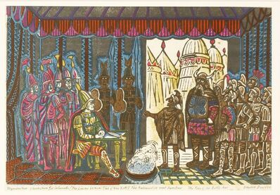 Edward Bawden, 'THE AMBASSADORS MEET HAMILCAR: THE PASS OF THE BATTLE-AXE' - AN ILLUSTRATION FOR 'SALAMMBO', The Limited Editions Club of New York', 1960