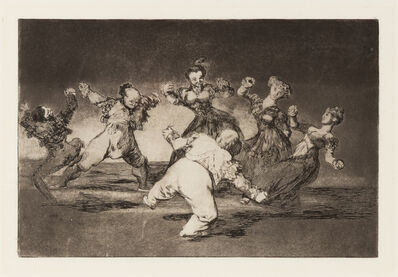 Francisco de Goya, 'If Marina Will Dance, She Has to Take the Consequences (plate 12 from Los Proverbios)', 1864