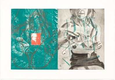 David Salle, 'Canfield Hatfield, Plate 7', 1989