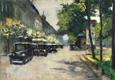 Lesser Ury, 'Unter den Linden', ca. 1925