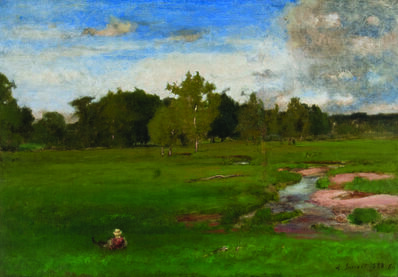 George Inness, 'Meadow in June', 1880