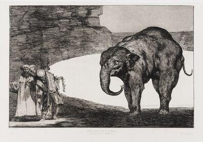 Francisco de Goya, 'Quien se pondrá cascabel al gato? (Otras Leyes por el Pueblo), from: 'Los Proverbios'', circa 1824