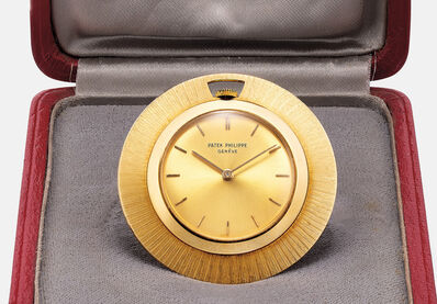 Patek Philippe, 'A rare and attractive yellow gold openface pocket with presentation box', 1963