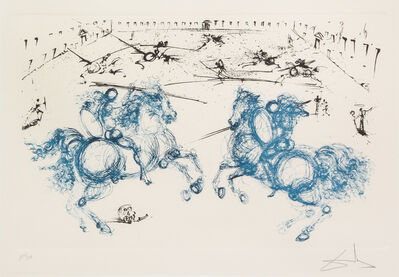 Salvador Dalí, 'Los Caballeros from La vida es sueño', 1971