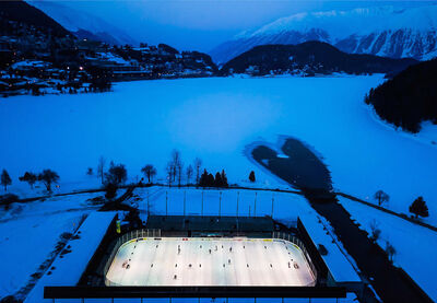 David Ondaatje, 'The Varsity Match, St. Moritz, Switzerland'