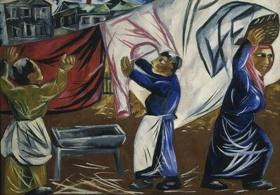 Natalia Goncharova, 'Laundresses', 1911