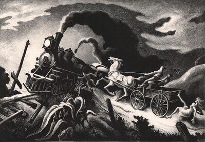 Thomas Hart Benton, 'Wreck of the Old 97.', 1944