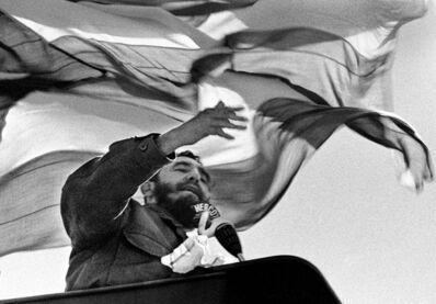 Romano Cagnoni, 'Fidel Castro + Cuba flag', 1972