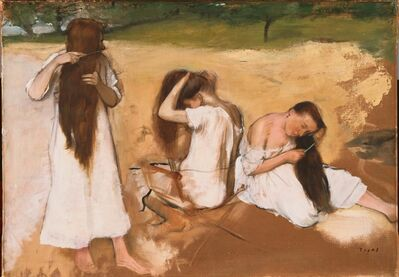 Edgar Degas, 'Women Combing Their Hair', ca. 1875-1876