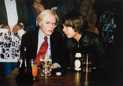 Richard E. Aaron, 'Mick Jagger and Andy Warhol', 1977-printed later