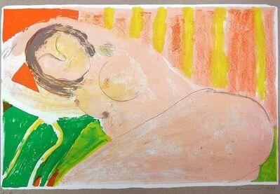 Shmuel Shapiro, 'Reclining Nude, Fauvist', 1973
