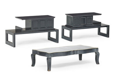 James Mont, 'James Mont Coffee Table And Pair Of Side Tables'