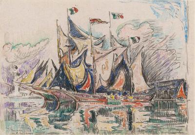 Paul Signac, 'Antibes, Goelettes au port', 1914