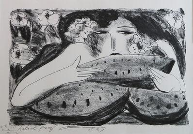 Walasse Ting 丁雄泉, 'Femme a la Pasteque', 1989