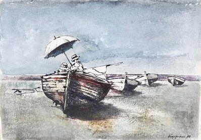 Renzo Vespignani, 'Barca sulla riva', 1960