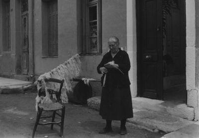 Ellen Auerbach, 'Poros, Greece (woman weaving wool)', 1952