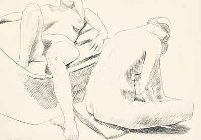 Philip Pearlstein, 'Untitled Nudes in bathtub', ca. 1971