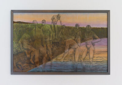 Rasmus Myrup, 'Homo Homo Neanderthalensis (Evening. Bathing Boys. After Tetens)', 2021